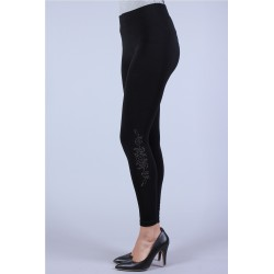 Leggings motif strass...