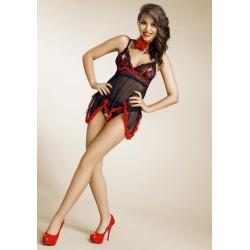 Nuisette noir et rouge Ines