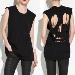 T-shirt  découpe crane  au dos.