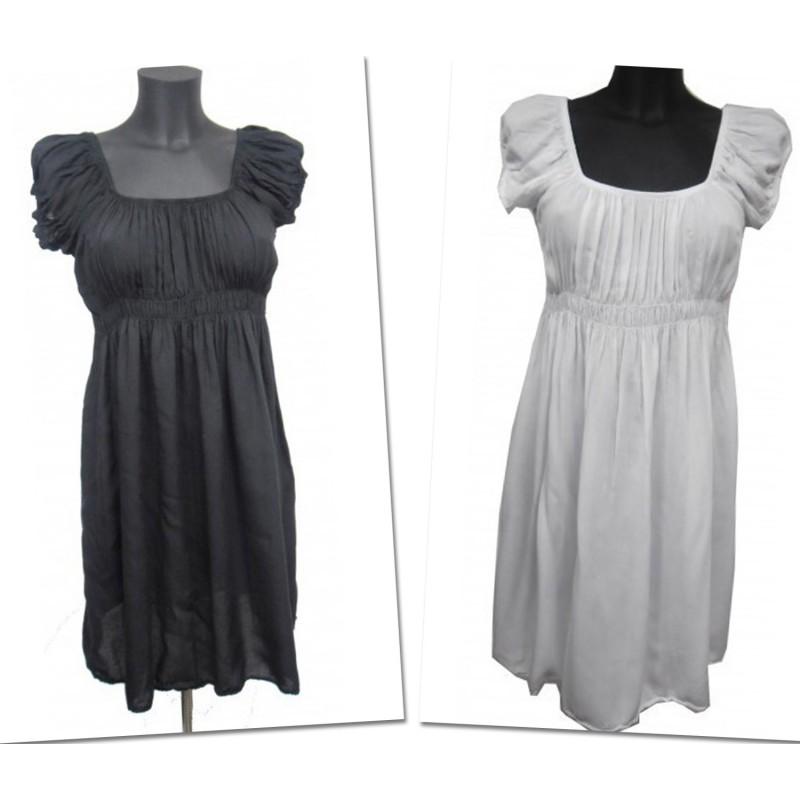 Robe fluide taille empire noir ou blanche