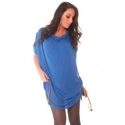 Robe tunique bleu avec...