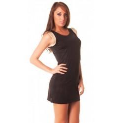 Tunique noir très fashion doré