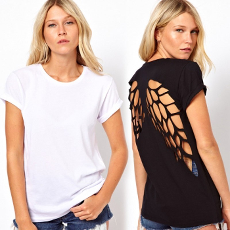 T-shirt avec 2 ailes dans le dos ajouré