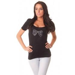T-shirt  noir  avec...