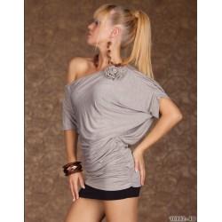Tee-shirt asymétrique gris