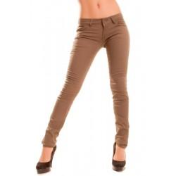 Jeans slim  marron pour...