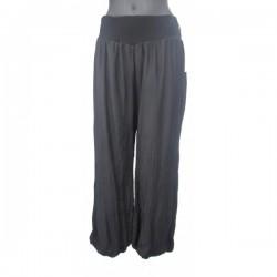 Pantalon d'été noir ou taupe