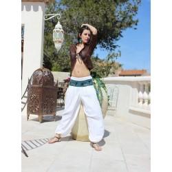 Pantalon long d'été blanc
